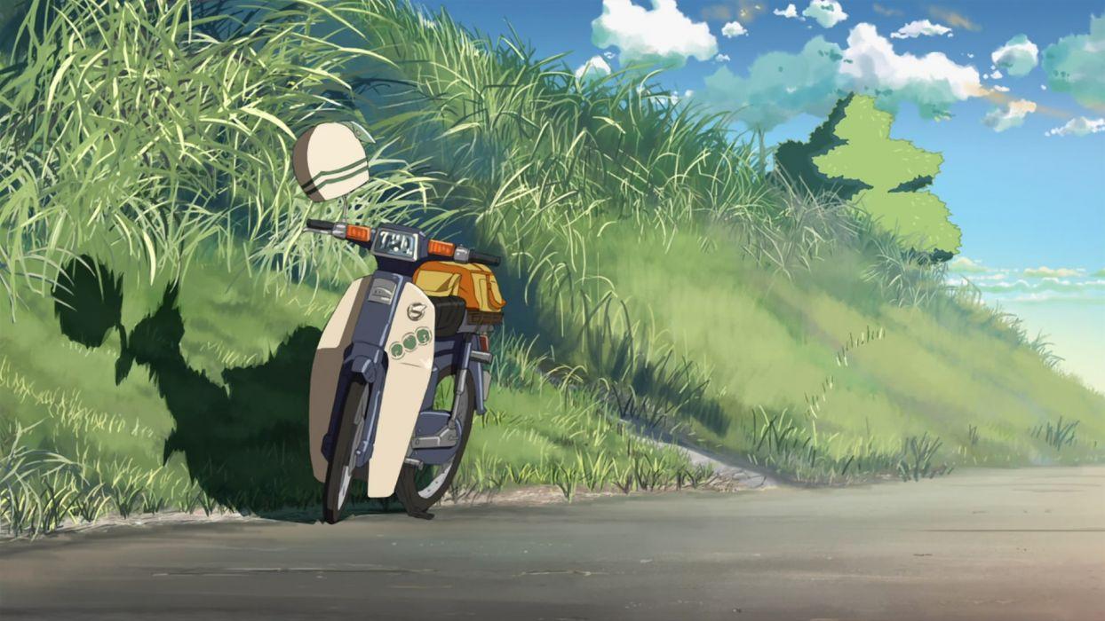 Makoto Shinkai 5 Centimeters Per Second anime motorbikes wallpaper