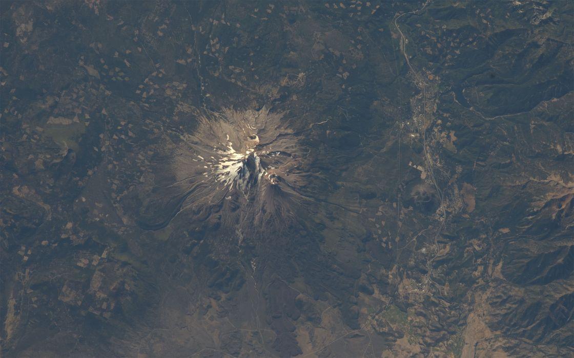 mountains NASA California International Space Station Mount Shasta wallpaper