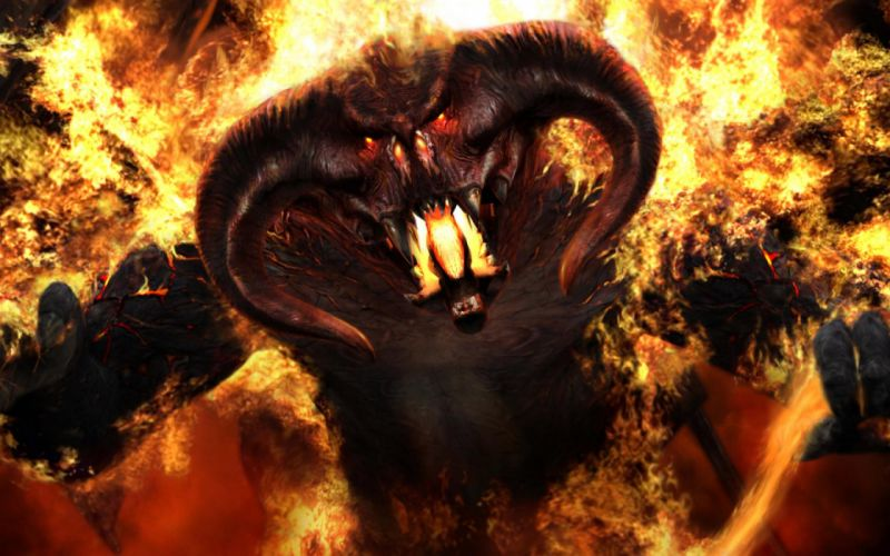 Balrog demons The Lord of the Rings The Fellowship of the Ring wallpaper