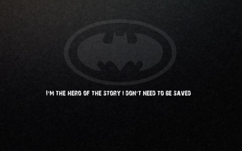 Batman quotes Batman Logo wallpaper