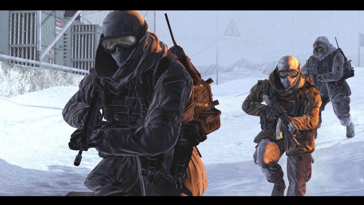 video games Call of Duty Modern Warfare 2 Call of Duty: Modern Warfare 2 black borders wallpaper