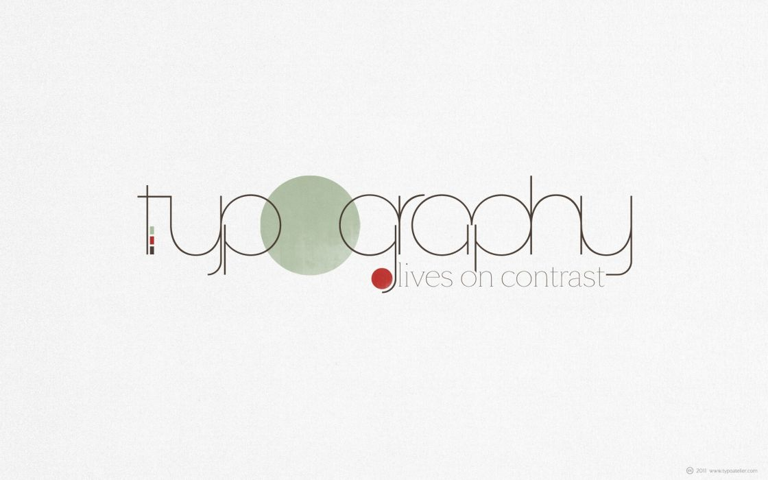 minimalistic text circles typography wallpaper