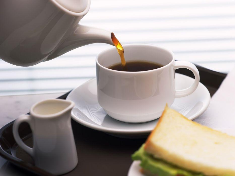 tea coffee coffee cups widescreen wallpaper