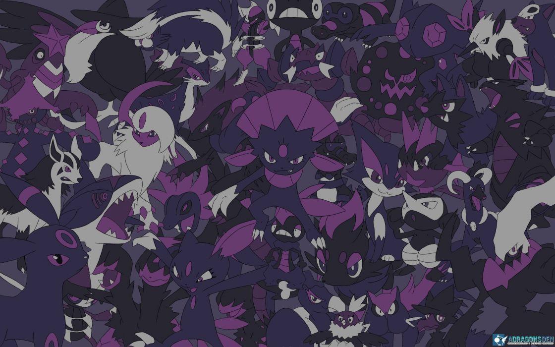 Pokemon video games dark wallpaper