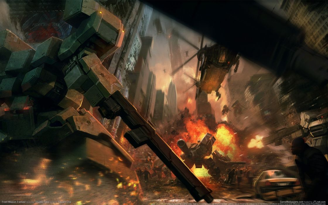 video games explosions mecha combat wallpaper