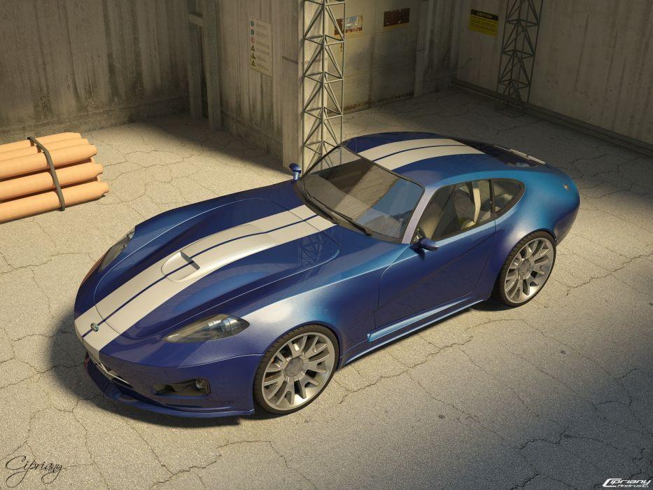 cars cobra room Ford concept art wallpaper