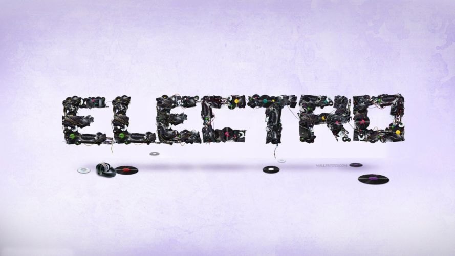 music typography electro wallpaper