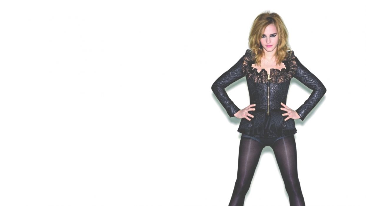 women Emma Watson actress simple background wallpaper