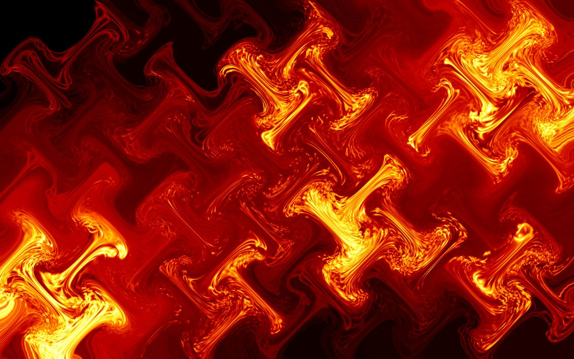 abstract red fire glass wallpaper