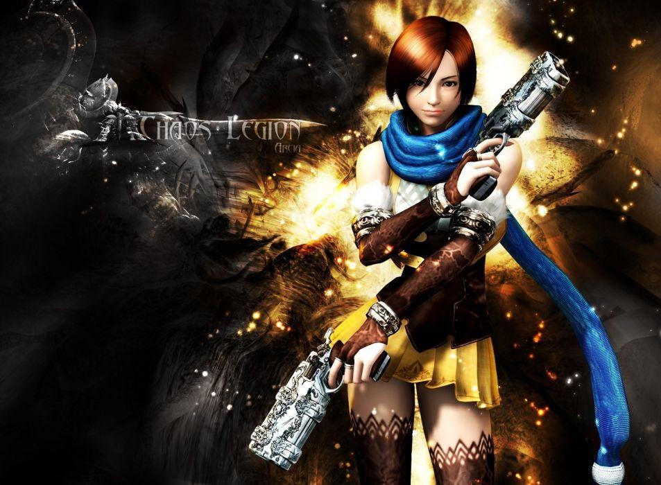 video games anime girls Chaos Legion wallpaper