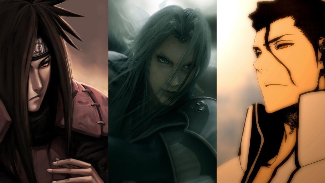 Bleach Naruto Shippuden Sephiroth Aizen Sousuke Crossovers