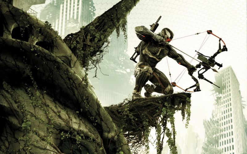 video games guns futuristic fps Future Weapons bow (weapon) Crysis 3 wallpaper