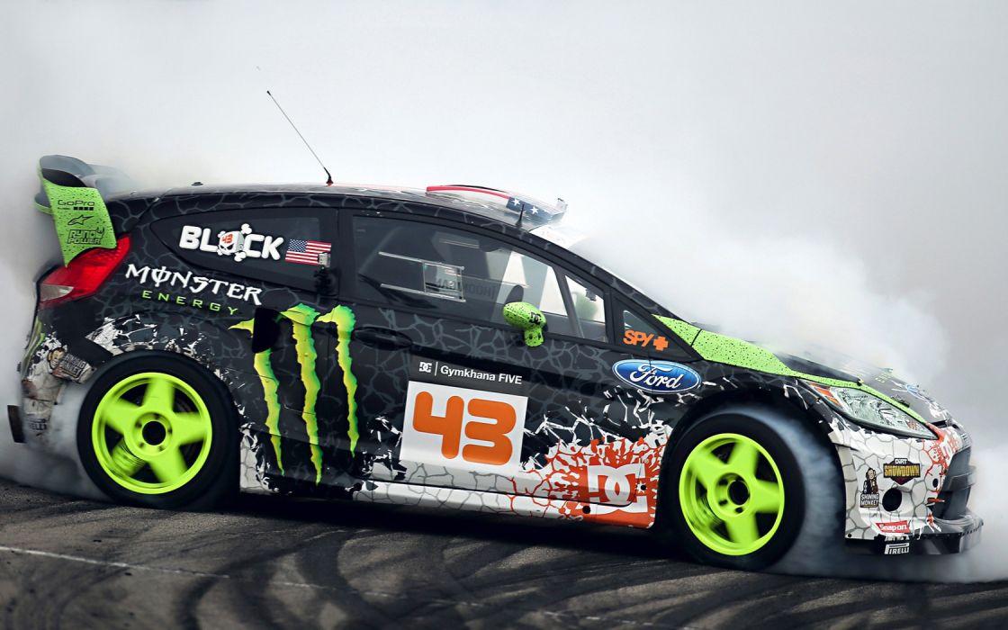 monsters Ford Ken Block Ford Fiesta Monster Energy drifting drift wallpaper