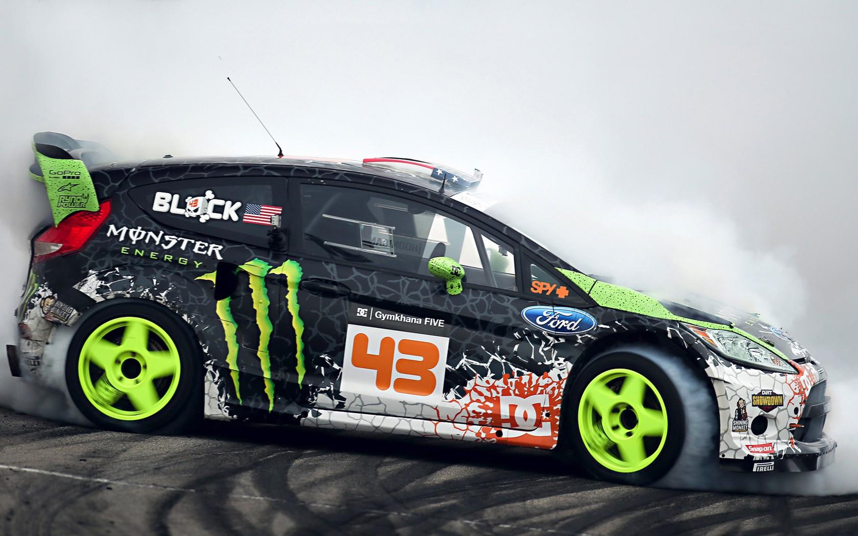 Monsters Ford Ken Block Ford Fiesta Monster Energy Drifting Drift