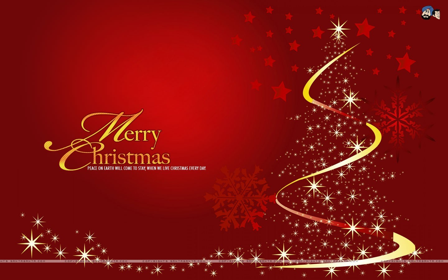 red christmas tree background - photo #13