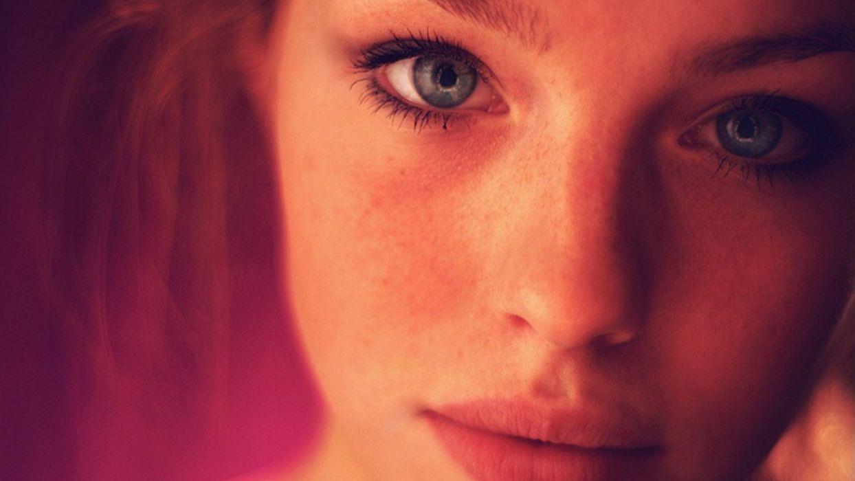eyes lips freckles wallpaper