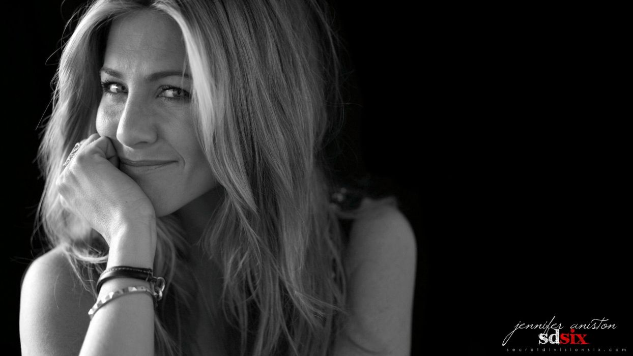 women American actress models Jennifer Aniston celebrity grayscale faces wallpaper