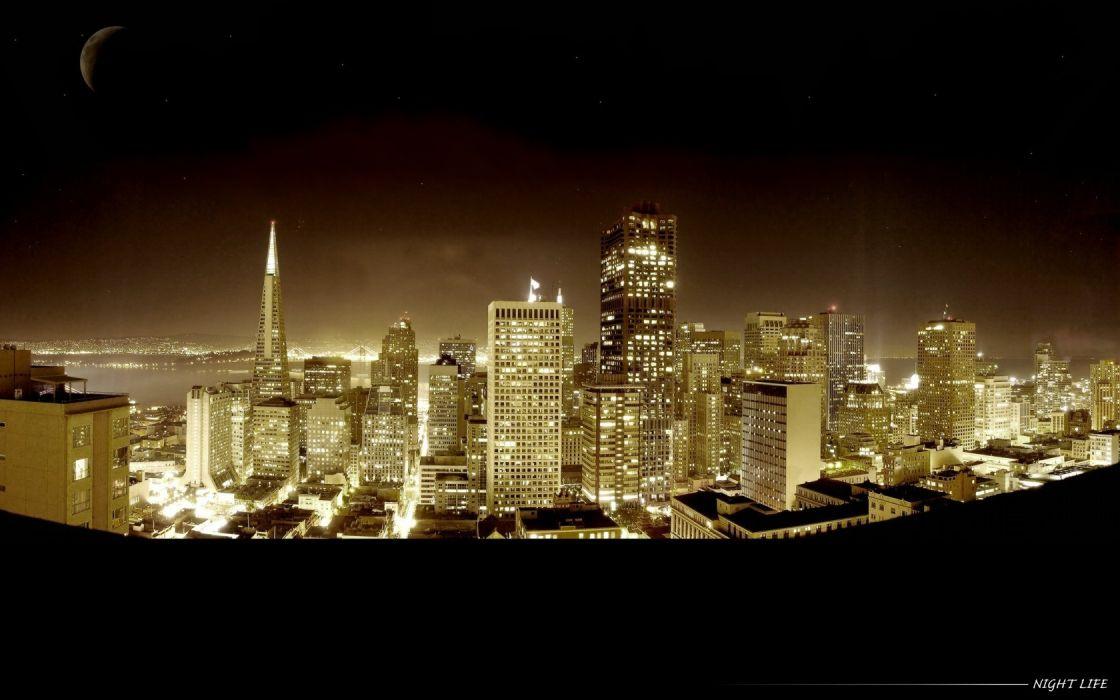 skylines San Francisco wallpaper