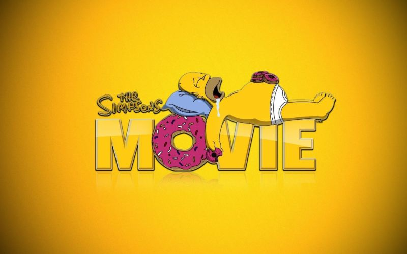 Homer Simpson donuts The Simpsons sleeping Simpson the movie wallpaper