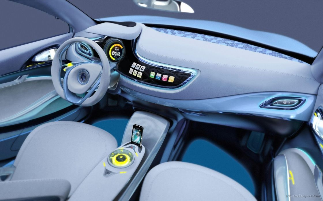 cars machines interior concept art vehicles Renault Renault Fluence wallpaper