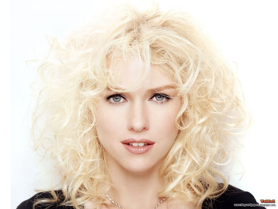 blondes women actress Naomi Watts curly hair faces white background wallpaper