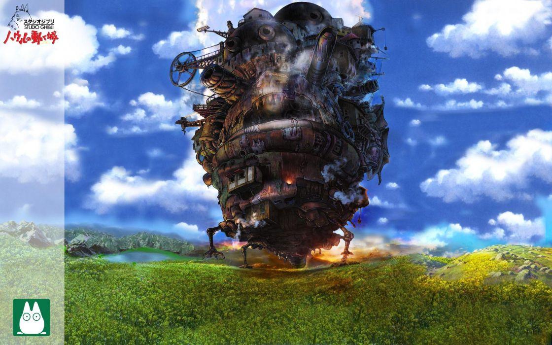 steampunk Studio Ghibli Howl's Moving Castle wallpaper