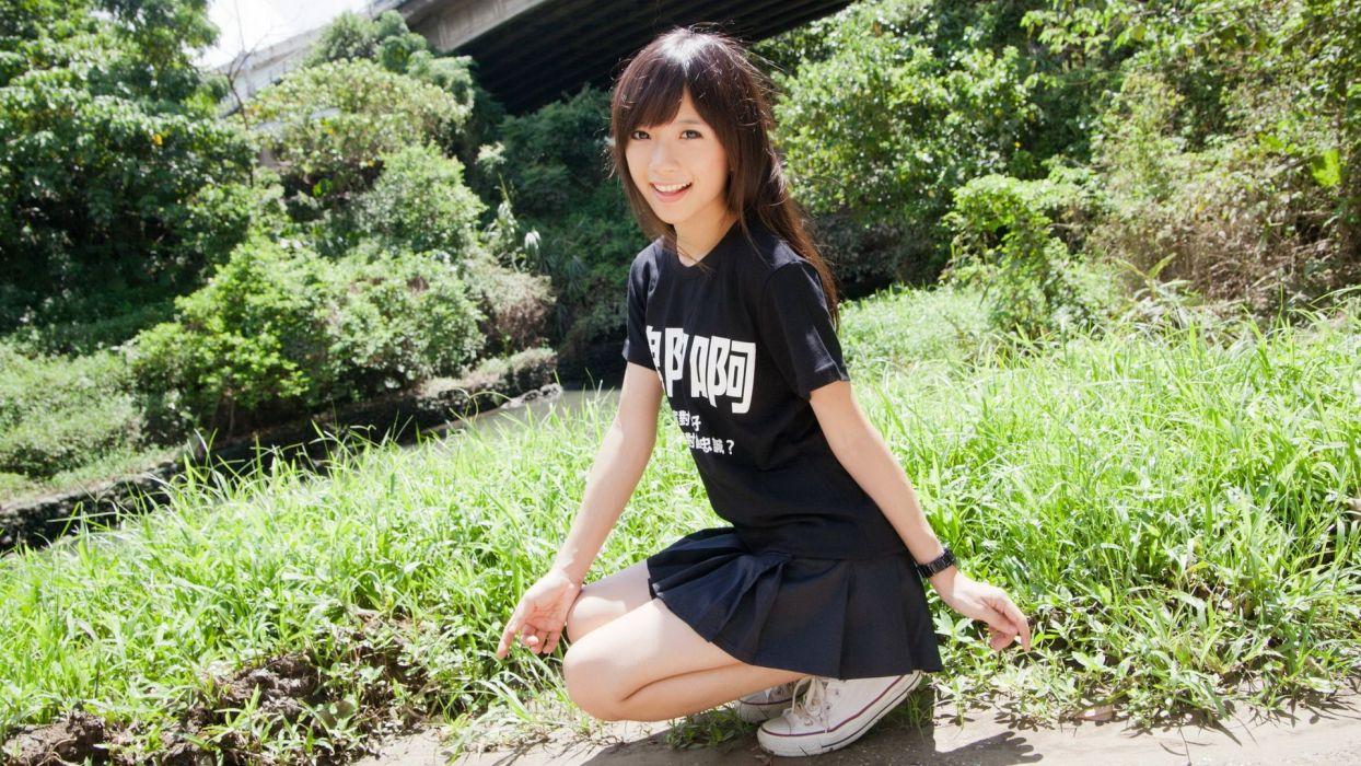 women Asians Taiwanese models wallpaper