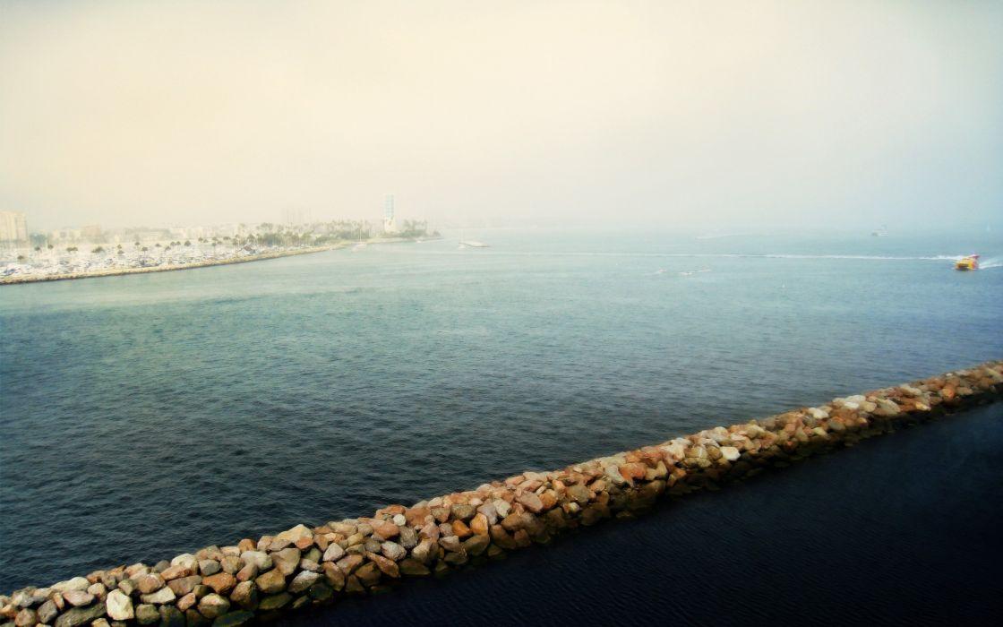 abstract dock sea wallpaper