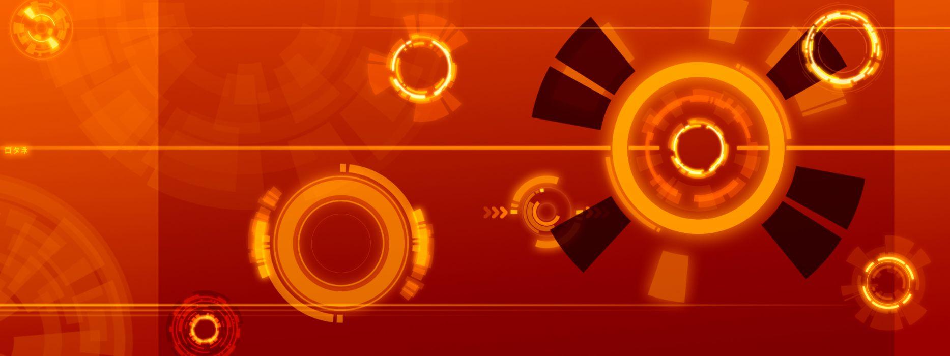 abstract orange digital art wallpaper