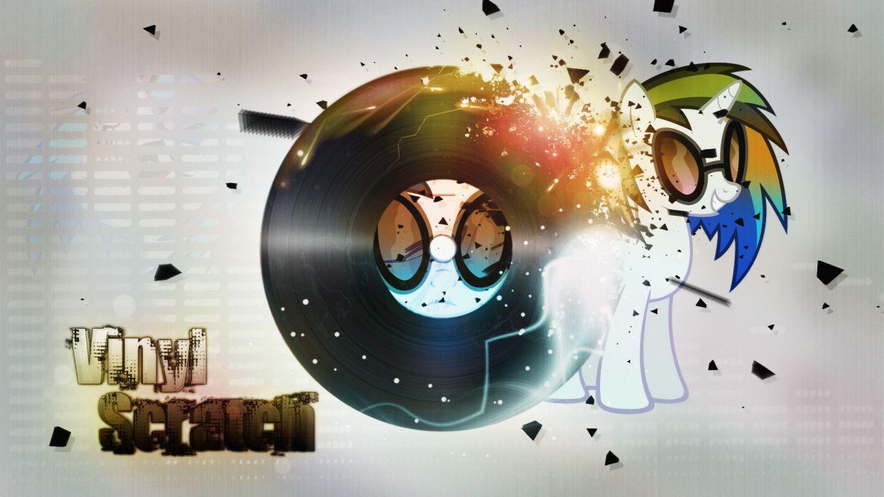 Vinyl Scratch wallpaper