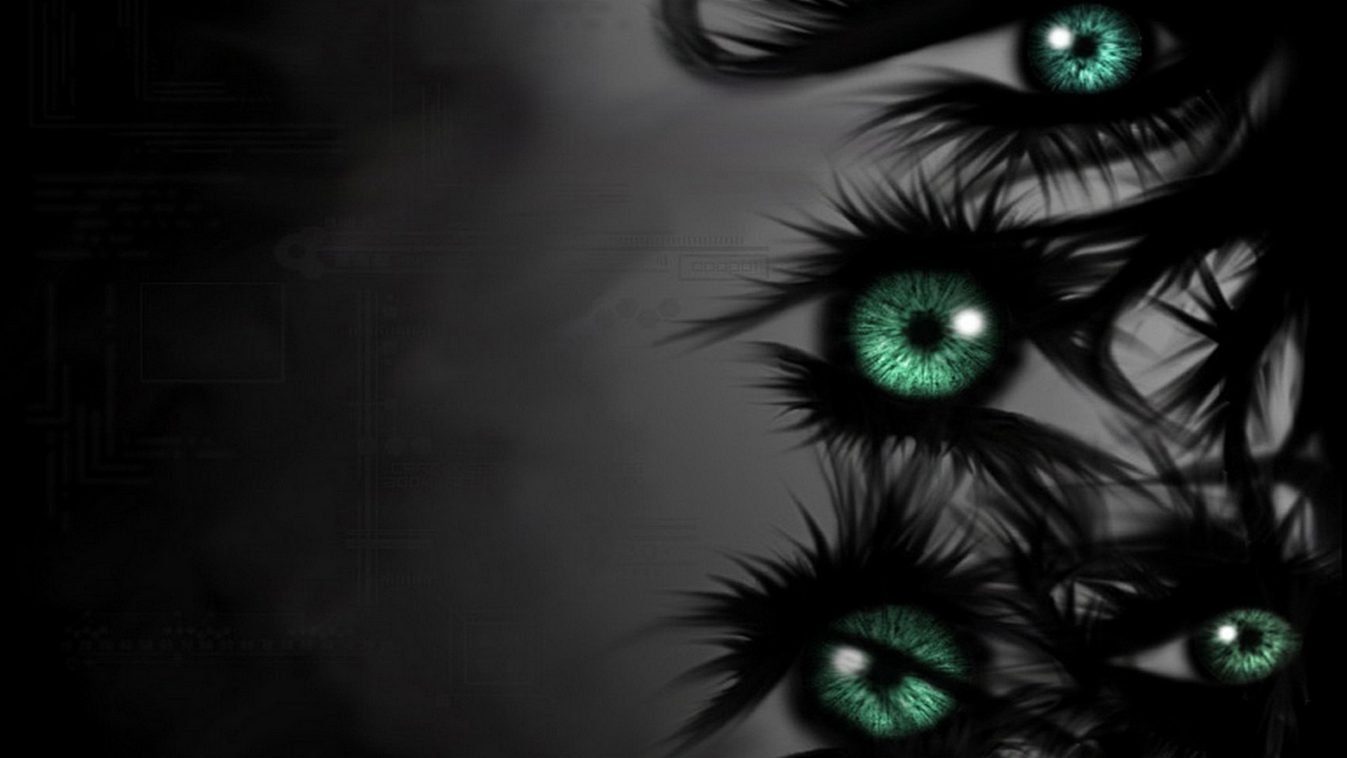 Abstract Eyes Dark Darkness Wallpaper 1920x1080 209945