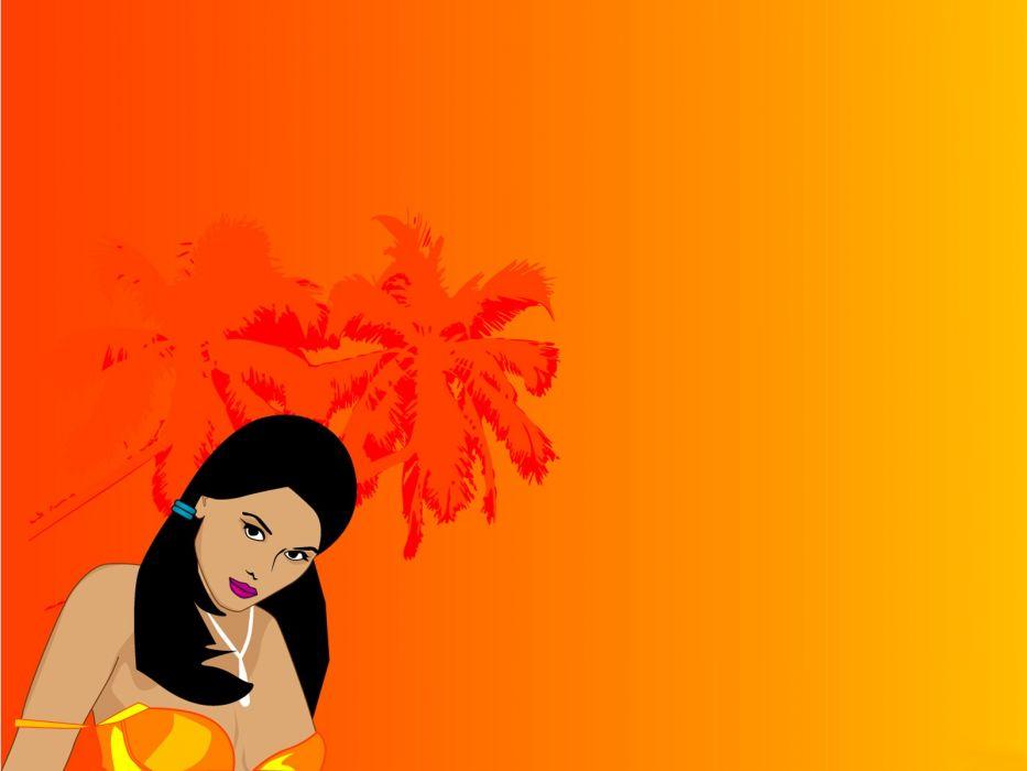 abstract yellow orange wallpaper