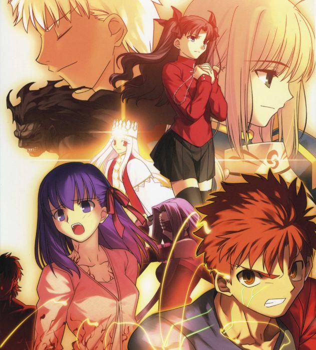 Fate/Stay Night Tohsaka Rin Emiya Shirou Type-Moon Saber  Archer (Fate/Stay Night) Berserker (Fate/Stay Night) Fate series Illyasviel von Einzbern wallpaper