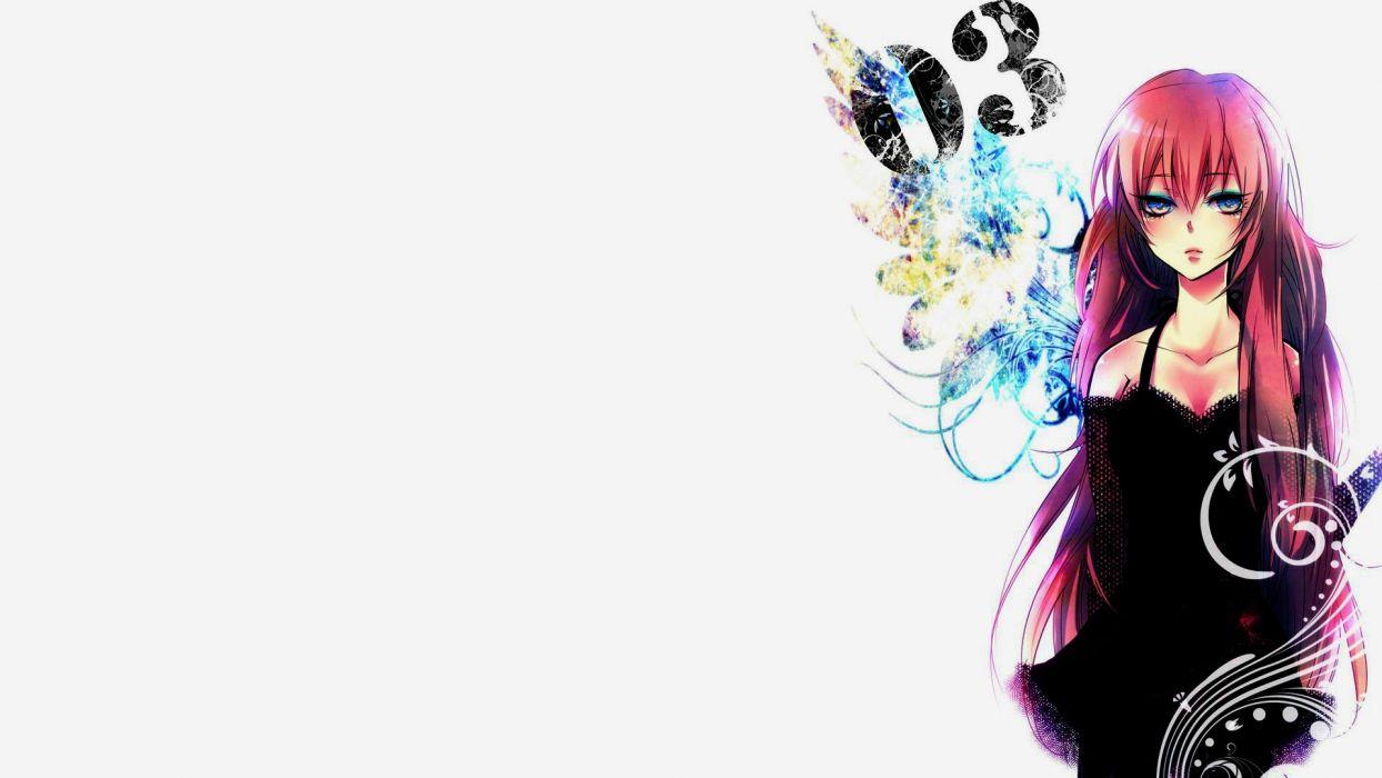 Vocaloid Megurine Luka simple background anime girls wallpaper