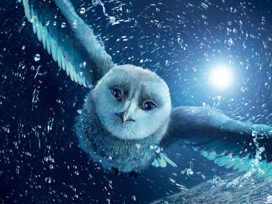 snow owls Legend Of The Guardians movie posters wallpaper
