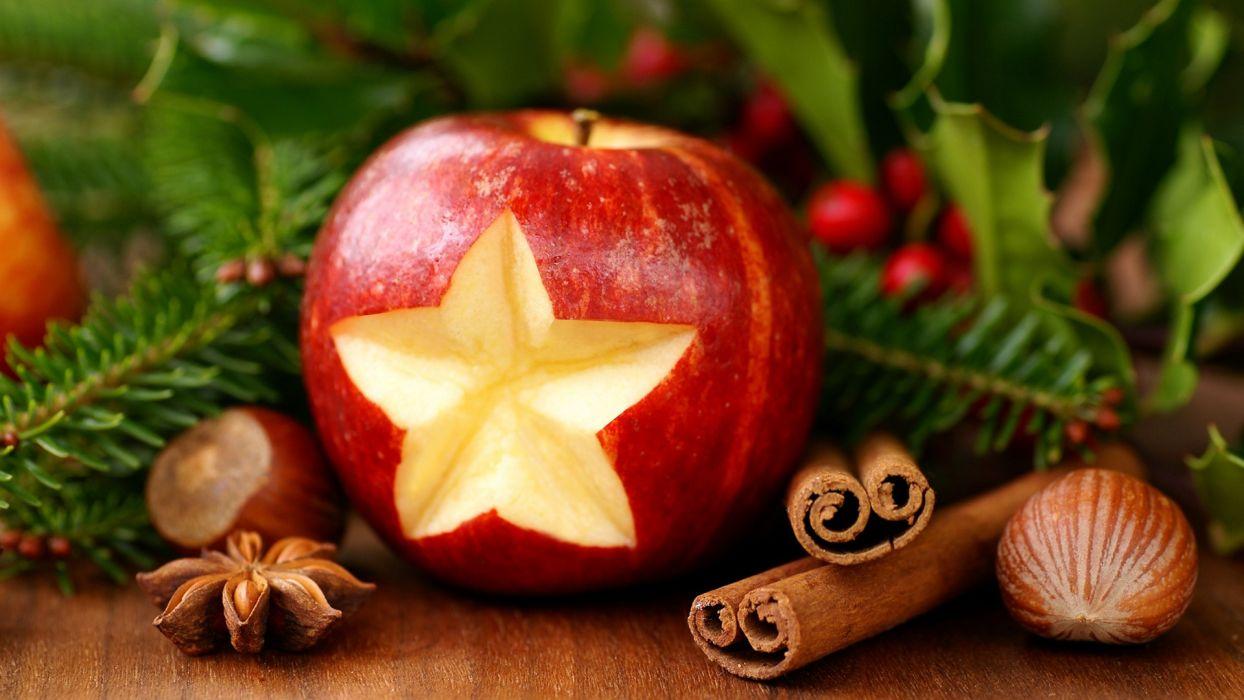 nuts apples wallpaper