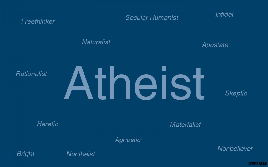 blue text atheism wallpaper