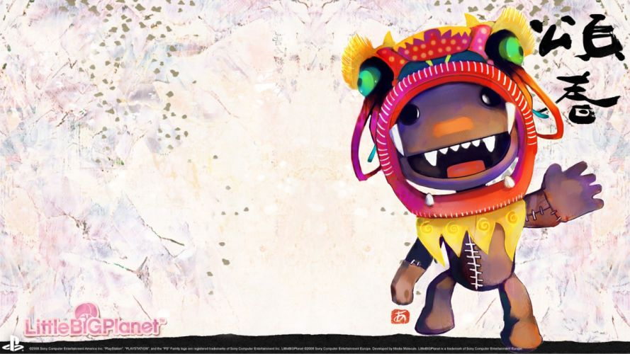 Little Big Planet Sackboy artwork wallpaper