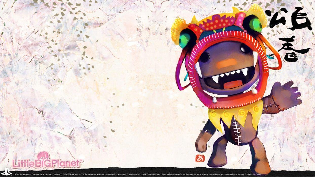 Little Big Planet Sackboy artwork wallpaper