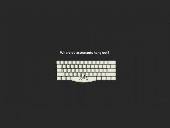 outer space minimalistic dark white keyboards bar funny astronauts space wallpaper