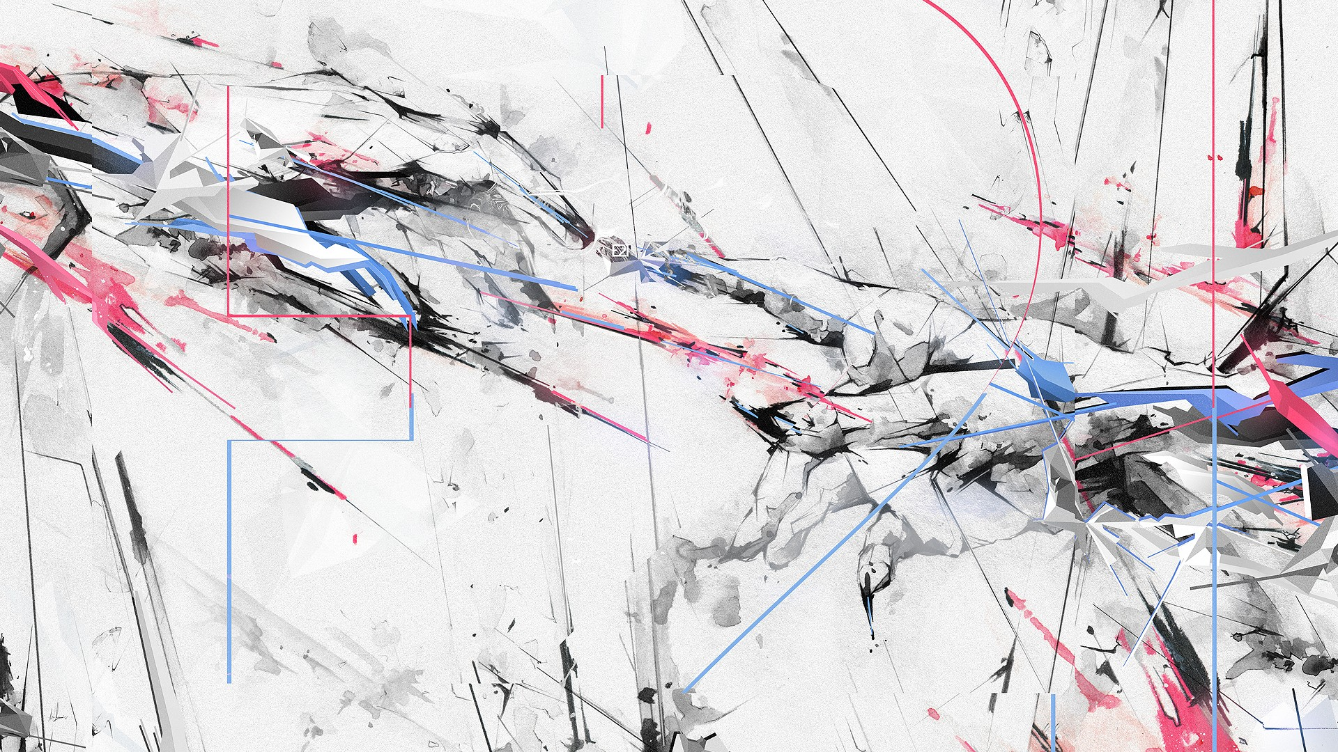 Abstract white hands digital art artwork wallpaper | 1920x1080 | 210119 | WallpaperUP