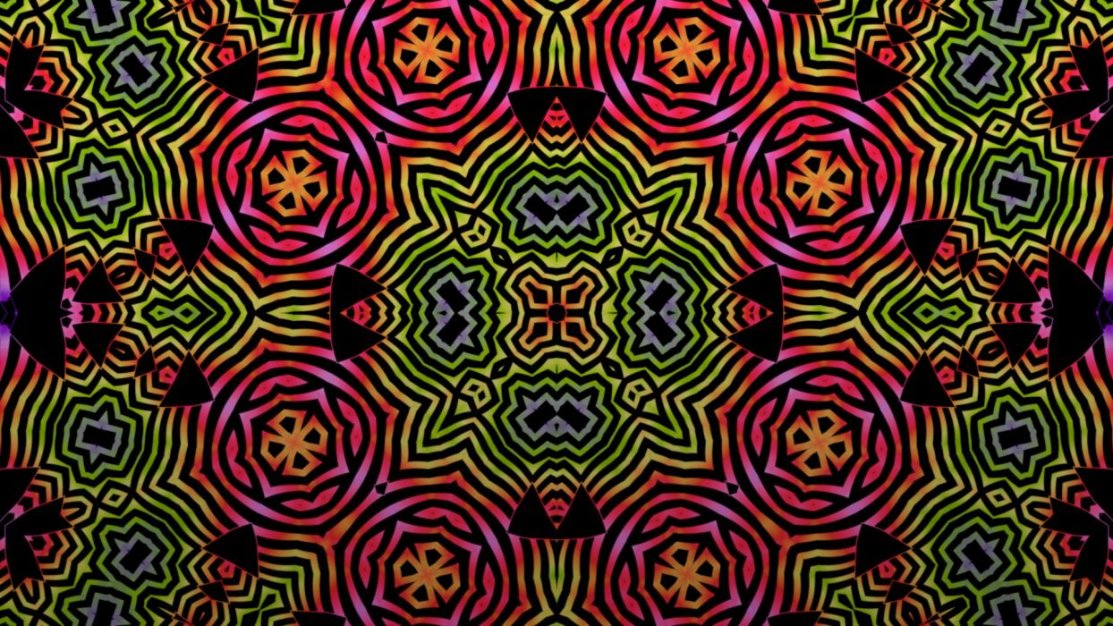 Abstract Multicolor Patterns Psychedelic Digital Art