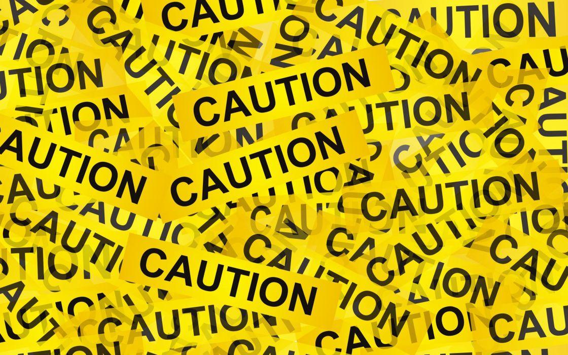 yellow caution wallpaper
