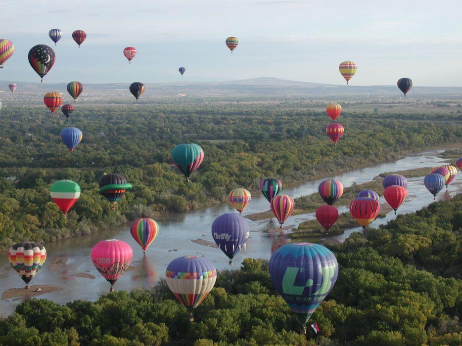 fiesta hot air balloons wallpaper