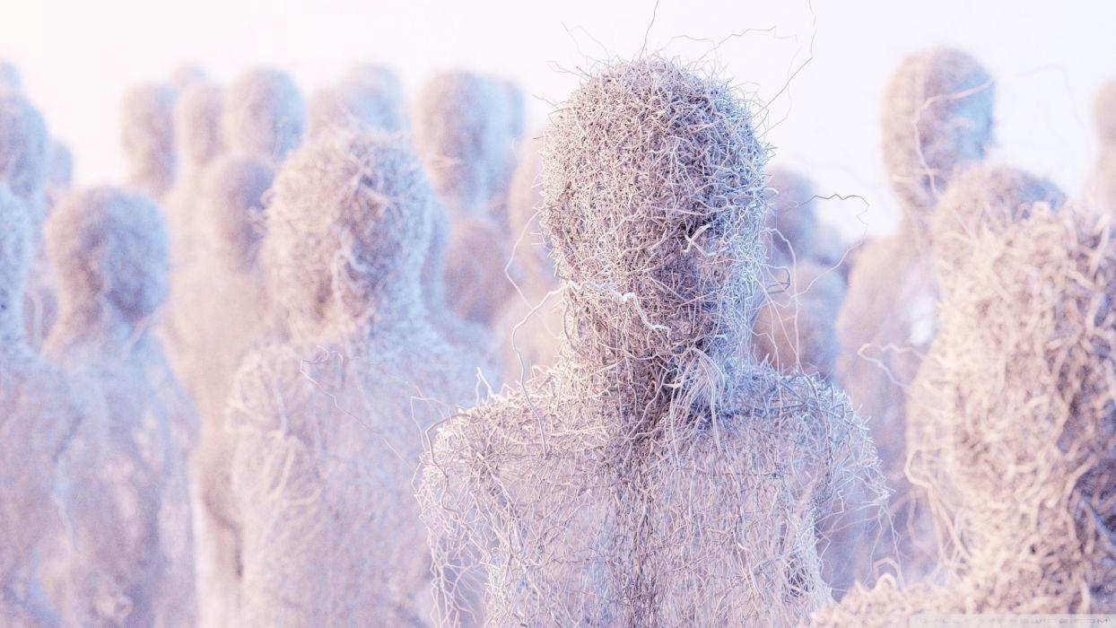 minimalistic sculptures artwork human body wires Humanoid wallpaper