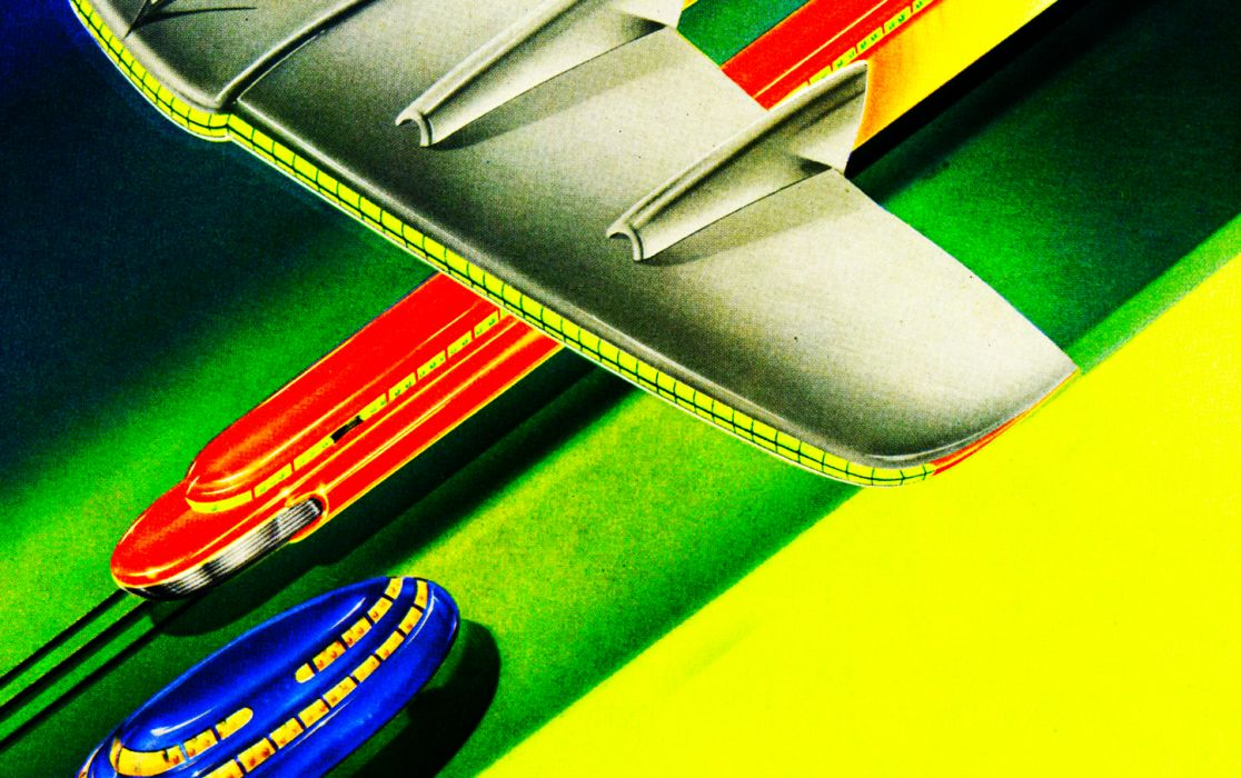 3 graphic retro streamlined art-deco vintage airbrush futuristic space age atomic age Hard  wallpaper