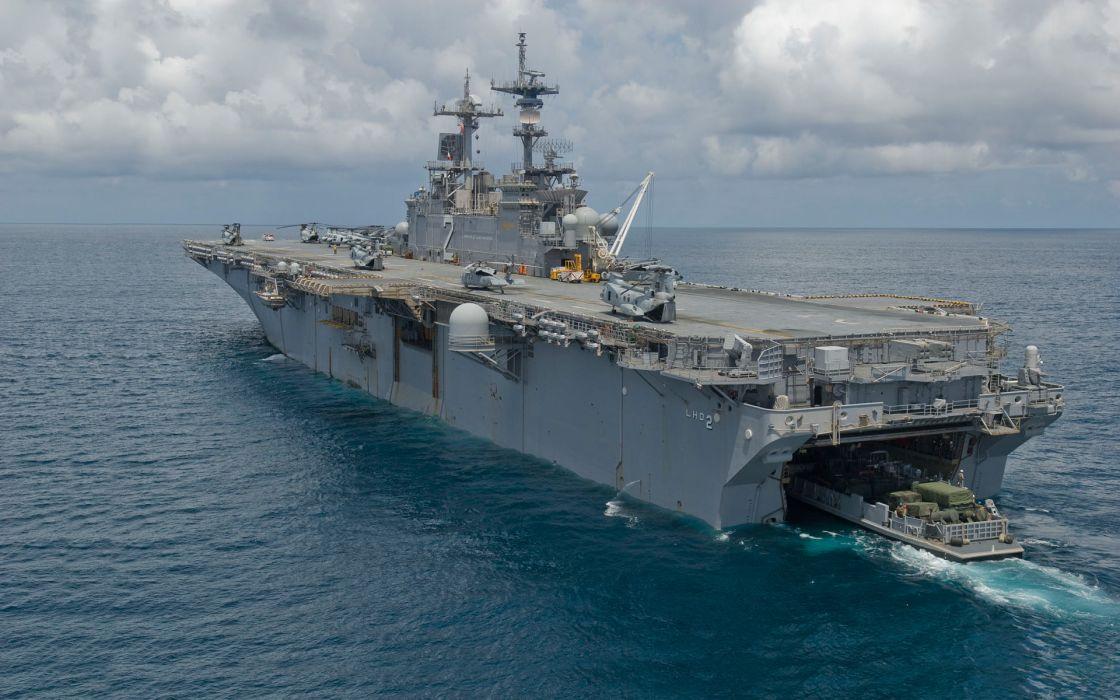 (lhd-2) uss essex ship landing deck military wallpaper