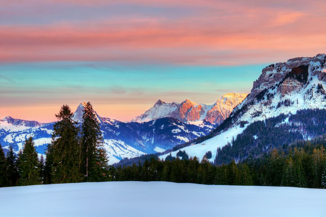 Free Mountain And Winter Wallpapers Hd: Alps Winter Switzerland January Mountain Wallpaper
