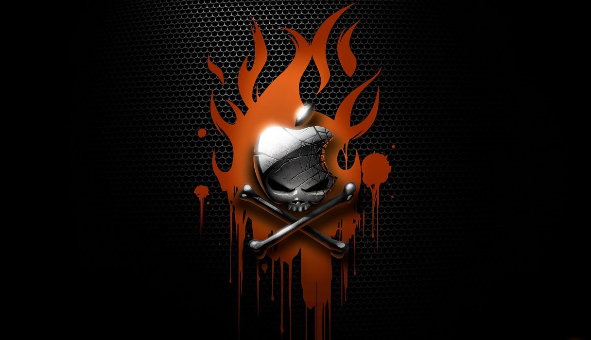 apple skull bones darkness wallpaper flames blood abstraction computer     k wallpaper