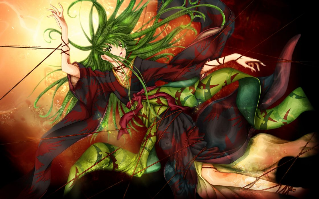art code geass cc a witch a girl blitzbullet  kimono thread wallpaper
